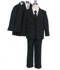 Babyz And Kidz: Classic Boy 5PC Three Button Striped Suit