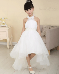 Dresswe: 65% Off Pretty Asymmetry Train Halter Neck Sweep/brush Flower Girl Dress
