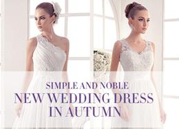 Milanoo: Simple & Noble New Wedding Dress In Autumn