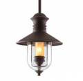Lighting Showroom: 69% Off Old Town 13-inch Natural Bronze 1-Light Outdoor Pendant