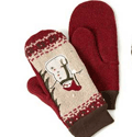 EcoMothering: Recycled Holiday Sweater Mittens, $25