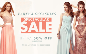 Milanoo: 50% Off Spectacular Sale