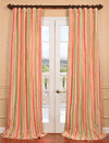 Half Price Drapes: Bijoux Faux Silk Taffeta Stripe Curtain For $89