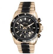Timepieces USA: $60 Off Diplomat Rose Gold & Black Watch