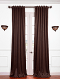 Half Price Drapes: Pole Pocket Java Blackout Curtain For $25.99