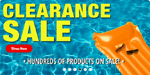 Clearance sale for low prices
