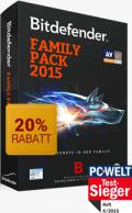 BitDefender: 20% Rabatt Auf Bitdefender Familien Pack