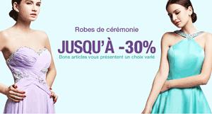 Milanoo: 30% De Réduction Robes De Cérémonie