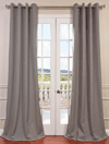 Half Price Drapes: Pewter Grey Grommet Heavy Faux Linen Curtain For $89