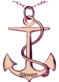 Getnamenecklace: 20% Off Men's Anchor Name Rose Gold Necklace