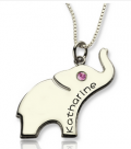 Getnamenecklace: Personalized Engraved Lucky Elephant Name Necklace Silver For Only $28.99
