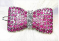 Fur My Pet: Pink Swarovski Ribbon Clip For $23