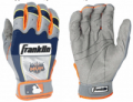 Baseball Plus Store: Player Series Youth Grey/Orange Batting Glove For $44.95