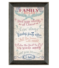 Lords Art: $39.95 For Family Rules Christian Wall Decor