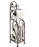 Wild Orchid: Designer Metal Toilet Paper Holder With Magazine Rack Brand Woodland
