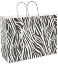 S Walter Packaging: Animal Paper Shoppers - Zebra