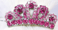 Fur My Pet: Pink Swarovski Crown Hair Clip For Only $23