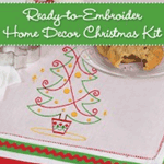 57% off Ready-to-Embroider Home Decor Christmas Kit