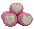 Fur My Pet: Pink Heart Crochet Ball For $9