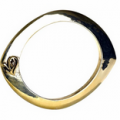 The Trend Boutique: $48 Belle Noel Evil Eye Bangle In Yellow Gold