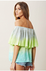 The Trend Boutique: Blue Life Wrap Me In Ruffles Top In Full Moon For $120