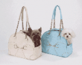 Fur My Pet: Cream Soho Ostrich Carrier By New York Dog For $130
