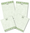 Artistic Labels: Tailored Elegance Personalized Memo Pads For $11.95