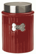 Fur My Pet: Red Woof Tagged Treat Jar For $25