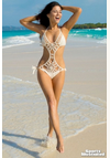 Anna Kosturova Flashback Monokini in Creme for $189