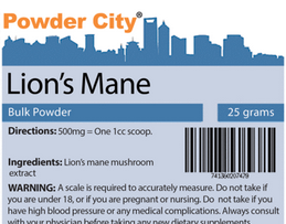 Powder City: Lion's Mane Mushroom 10:1 Extract 30% Polysaccharide From $8.32