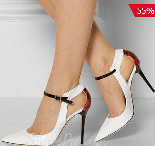 Shoes Pie: 55% Off Shoespie Pointed-toe Cut-outs Ankel Wrap Stiletto Heels + Free Shipping