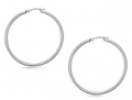 B2C Jewels: $175 For Classic Slim Hoop Earrings In 14K White Gold