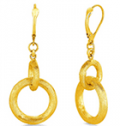 B2C Jewels: $375 For Link Dangle Earrings In 14K Yellow Gold