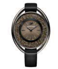 Swarovski: Crystalline Oval Black Tone Watch For $349