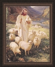 Lords Art: Shepherd By Warner Sallman - Framed Christian Art $49.95