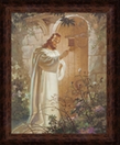 Lords Art: At Heart's Door By Warner Sallman - Framed Christian Art $49.95