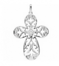 Lords Art: Sterling Silver Diamond Cross Pendant