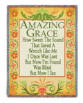 Lords Art: $59.95 For Amazing Grace Inspirational Tapestry Throw