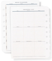 Menu Planner Shopping List for $5.95