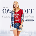 Rose Gal: 40% Off T-shirts & Blouses + Free Shipping