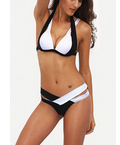 SheIn: Set De Bikini Cut Out Color Combinado