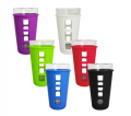 Eco Vessel: Vibe Pint Glass With Silicone Sleeve - Single And Twin Sets At Just $9.95