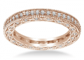 B2C Jewels: Pave-Set Diamond Eternity Ring In 18K Rose Gold With Milgrain Border (5/8 Cttw.) For $1025