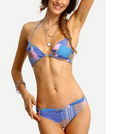 SheIn: Bikini Color-block à Rayures Ras De Cou