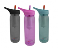 Eco Vessel: Tritan Plastic Wave Sports Water Bottle With Flip Straw Top At Just $13.95