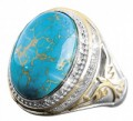 Timepieces USA: WARRIOR TURQUOISE RING For Only $169