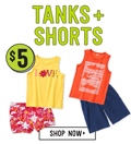 Crazy 8: $5 Tees + Shorts