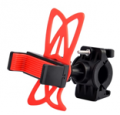 LighTake: Universal Motorcycle Bike Handlebar Mount Holder With Silicone Band For Cell Phone - Red + Black For $3.99