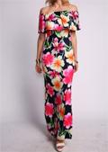 Modlily: Off The Shoulder Flower Print Dress