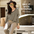 SheIn: 50% Off Striped T-shirts